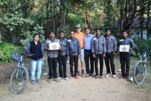 Village Guardians thank Tribes after Bike4tigers. Nov 2016